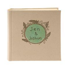 Personalized FLORAL FRAME Letterpress Printed Photo Album