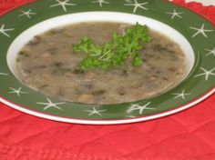 Drunken Mushroom Soup. A great mushroom soup recipe that doesn't use cream. Made this yesterday, quite good.