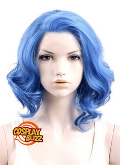 Best Quality Lace Front Wigs for Cosplay Movie Star, Celebrity, Comic Hero and Online Game Character. Customize Lace Wig Service Available! Lace Front Wigs, Lace Wigs, Short Blue Hair, Blue Wig, Synthetic Hair, Blue Lace, Wig Hairstyles, Kinky, My Hair