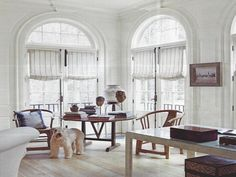 White Striped Roman Shades For French Doors With Windows Arched Combined With White Painted Wall With Wood Blinds For French Doors And Basement Window Coverings Shades For French Doors, Blinds For French Doors, French Doors Patio, Arched Window Treatments, Arched Windows, Windows And Doors, Shop Windows, Basement Window Coverings, Wood Blinds