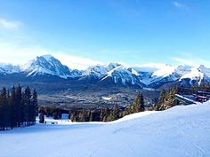 Empty hills is part of the First Tracks experience at Lake Louise