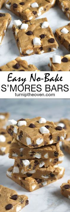 These easy no-bake s'mores are like a cross between cookie dough, fudge, and everyone's favorite campfire dessert! All you need is 10 minutes and 9 simple ingredients!