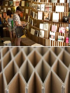 Collapsible Cardboard Shelves. Uh-mazing.