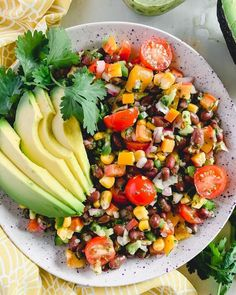 This bright and zesty Vegan Fiesta Salad is perfect for picnics in the park, weekend BBQ's or taco nights at home! Best Healthy Dinner Recipes, Easy Delicious Recipes, Delicious Vegan Recipes, Healthy Meal Prep, Whole Food Recipes, Healthy Eating, Fiesta Salad, Pasta Dishes, Cobb Salad