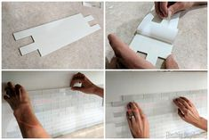 We'll show you the easiest process for installing a backsplash with Aspect Tile! We use beautiful white glass subway tile and it MAKES the kitchen! Glass Subway Tile Backsplash, Daydream, Kitchen Ideas, Decorating, Diy, Home Decor, Decor, Decoration, Bricolage