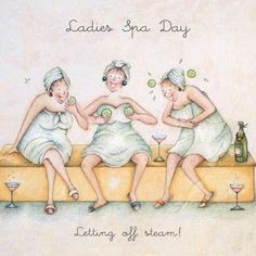 Diy Discover Ladies Spa day letting off steam Ladies Who Love Life . Birthday Wishes Birthday Cards Happy Birthday Spa Birthday Old Lady Humor Art Impressions Stamps Crazy Friends Funny Cards The Golden Girls Spa Birthday, Birthday Wishes, Birthday Cards, Happy Birthday, Sauna Privé, Old Lady Humor, Art Impressions Stamps, Crazy Friends, Funny Cards