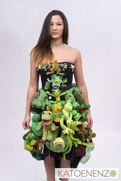 Frog dress I made for a collectors exhibition.
