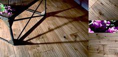 hand scraped, oak floor & coffee table.  http://www.antiqueoak.pl/