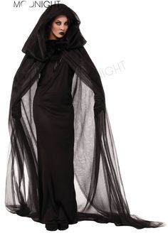 Gothic Witch Halloween Costume Sorceress Costume Adult Witch Fancy Dress Bewitching Witch Wicked Cosplay
