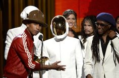 #Frenchelectroduo #DaftPunk on Sunday won the #Grammys for best album and best record, in a triumph for the self-styled robots. #selfstyledrobots