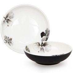 Black Orchid Melamine Bowl