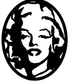 Marilyn Monroe DXF file image for your CNC by ArcInnovations