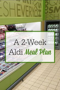 I save so much money on groceries by shopping at Aldi! Check out this two-week Aldi meal plan and save on your family's food budget!