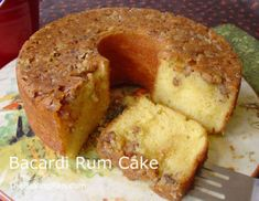 A friend made this using Captain Morgan Spiced Run in the batter, and milk, instead of water, and it made a richer and more robust cake than using the ingredients called for in the original Bacardi Rum cake. We also used Appletons Estate Rum in the glaze.  We did not use Bacardi Rum at all.
