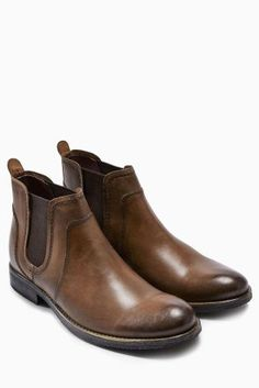 Gents - party season is approaching! Switch up your shoes and pair a suit with our tan chelsea boots instead.