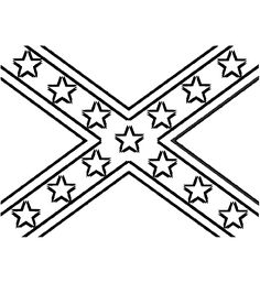 Confederate Flag Coloring Pages
