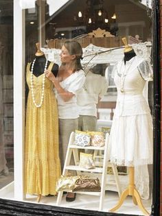 An attractive window display could bring traffic into your store.