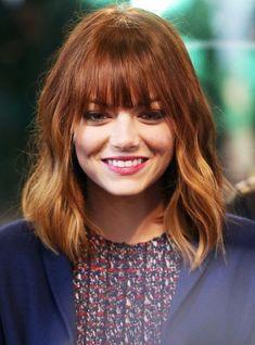 Ombre Hair - Blunt Bangs Bob Haircut - Very Cute Hairstyle for Medium Length Hair