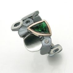 Lamella Faceted Tourmaline Ring by Emily Thatcher