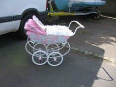 Pink Prams, Baby Prams, Pram Stroller, Baby Strollers, Vintage Pram, Prams And Pushchairs, Dolls Prams, Cot Bedding, Baby Carriage
