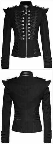 Black Victorian Military Jacket