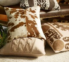 Spotted Hide Pillow Cover #potterybarn