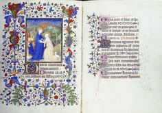 Hours of Etienne Chevalier,  160 x 115 mm, c. 1420, Visitation,  illuminated by the Master of the Boucicaut Hours