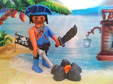 Playmobil Pirat / Seeräuber Figur mit Feuerstelle, Pistole und Säbel, TOP!!!