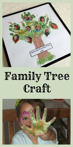 Family Tree Craft with #TruprintDads - This is such a lovely idea for #FathersDay!