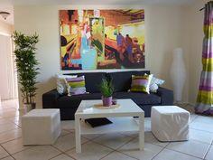 #Wohnzimmer im #Haus #SummerJam.   Jetzt buchen unter florida4you.eu   #Florida #Reise #USA #florida4you #capecoral #urlaub #fortmyers #matlacha #unitedstates #sunshinestate #sun #Sonne #Erholung #Strand #Ferienhaus #Vermietung