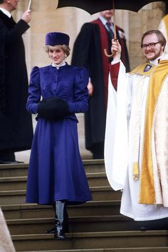 Princess Diana - Fashion and Style Icon | British Vogue: DECEMBER 1985 - Diana was all in blue for the royal family Christmas church service in Windsor.