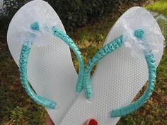 OCEANO bridal flip flops