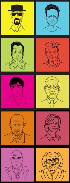 Line Art // Top 10 Artist Tributes to 'Breaking Bad' Characters Breaking Bad Cast, Breaking Bad Seasons, Heisenberg, Say My Name, Nerd Geek, Best Artist, Line Art, Revolution, Addiction