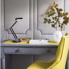 Vibrant yellow   Home offices   Design ideas   Image   Housetohome
