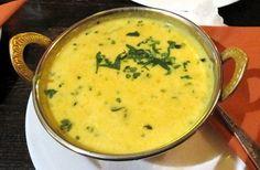 Traditional Mulligatawny soup as served in Mumbai
