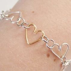 Use jewelry wire to make heart shaped links to create your own chains.