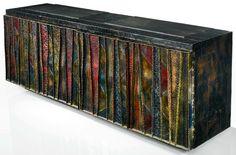 Welded steel and slate sideboard