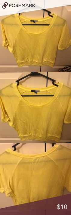 😘Yellow short sleeve dressy top Super cute and has never been worn! Bought it from a boutique but yellow just isn't my color. Tops Blouses