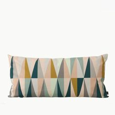 This plush and fetching Spear Cushion was created for the Danish design studio ferm LIVING.Since being established in Copenhagen in ferm LIVING ha Modern Throw Pillows, Large Pillows, Decorative Cushions, Contemporary Pillows, Textiles, Coton Biologique, House Doctor, Danish Design, Soft Furnishings