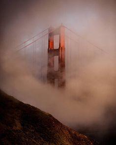 Golden Gate wrapped of Fog by @lifeonclaude9 by photoblog.sanfranciscofeelings.com sanfrancisco sf bayarea alwayssf goldengatebridge goldengate alcatraz california