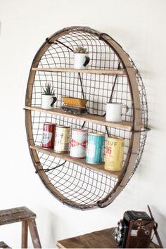 Round Wire Basket Wall Shelf