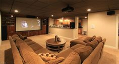 Explore this Home Theater design posted by Rick & Donna Hamblen. View estimated - Projector - Ideas of Projector - Explore this Home Theater design posted by Rick & Donna Hamblen. View estimated costs list of materials needed and estimated labor costs. Home Theater Rooms, Home Theater Design, Cinema Room, Man Cave Basement, Basement Movie Room, Basement Carpet, Basement Ceilings, Small Basements, Small Finished Basements