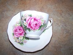 Pretty Royal Vale Rose Mixed Floral Tea Cup Saucer Set $24.00
