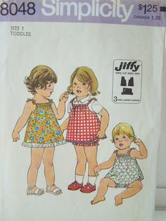 Simplicity Toddler Sewing Pattern 8048 SALE by WitsEndDesign