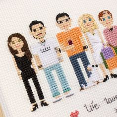 Have you seen a big family portrait a post back? Here is close up of a half of it :)