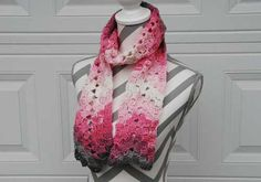 Vintage Rippling Scarf. Free easy-level pattern made with medium, worsted, or Aran yarn.