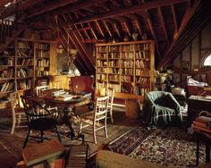 Attic library space, Kennebunk, ME.