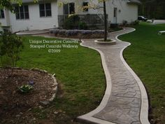 Stamped Concrete Walkways | Stamped Concrete Walkway