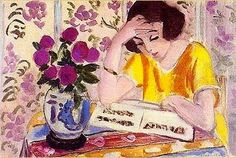 Reading Girl with Roses, n.d.- Henri Matisse