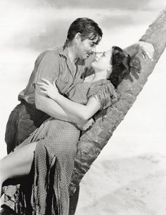 """Clark Gable & Joan Crawford in """"Strange Cargo"""" Vintage Hollywood, Classic Hollywood, Divas, Real Movies, Carole Lombard, Clark Gable, Joan Crawford, Movie Photo, Great Love"""